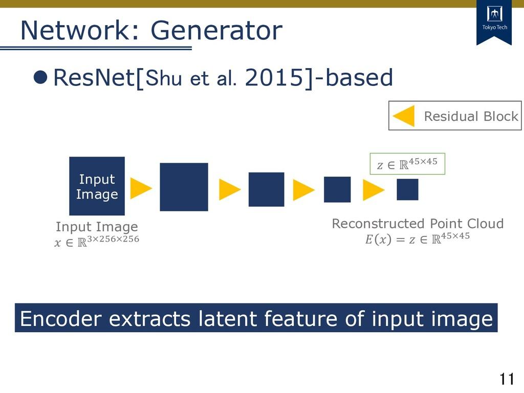 11 Tokyo Tech Network: Generator lResNet[Shu et...