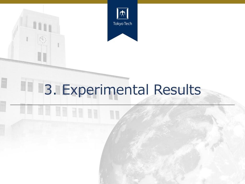 15 Tokyo Tech 3. Experimental Results