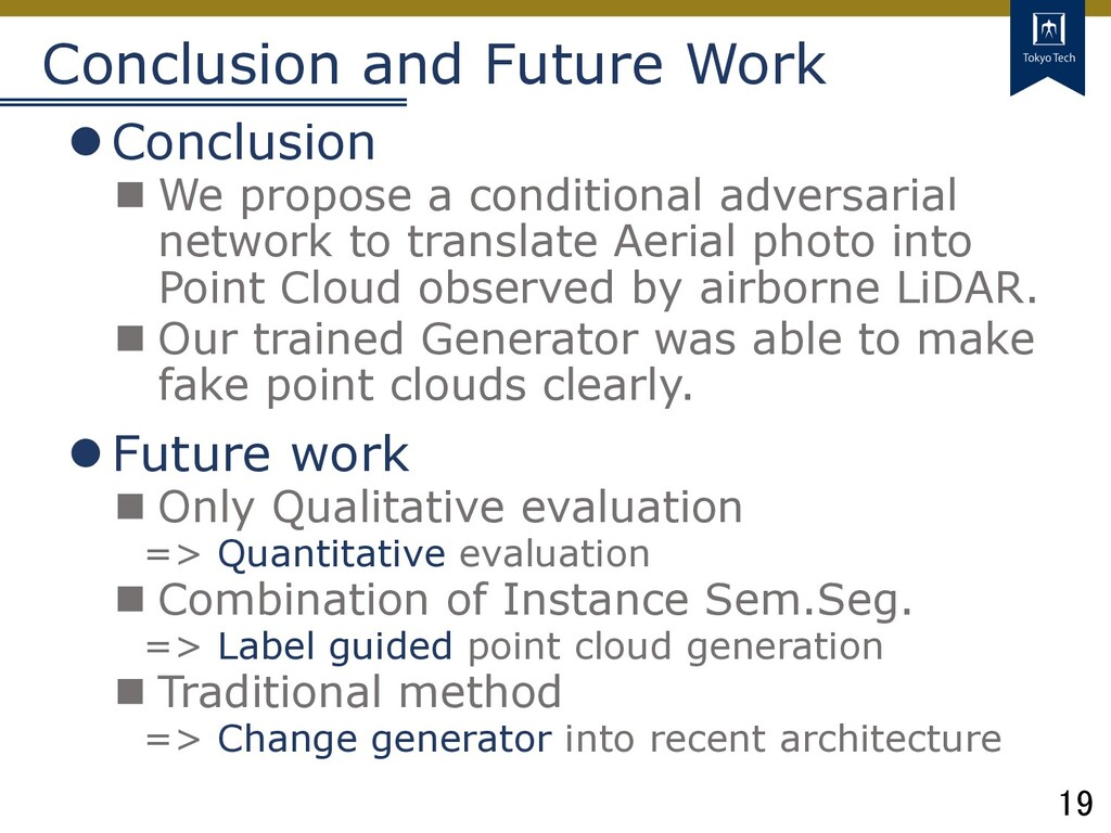19 Tokyo Tech Conclusion and Future Work lConcl...