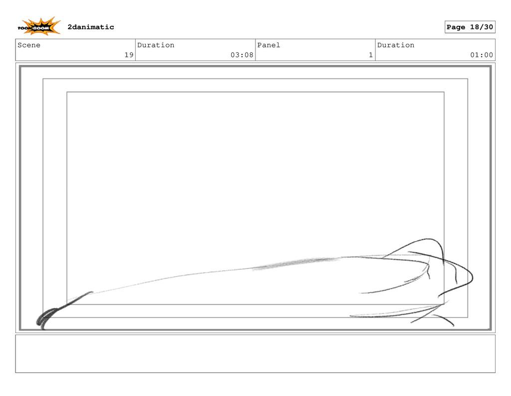 Scene 19 Duration 03:08 Panel 1 Duration 01:00 ...