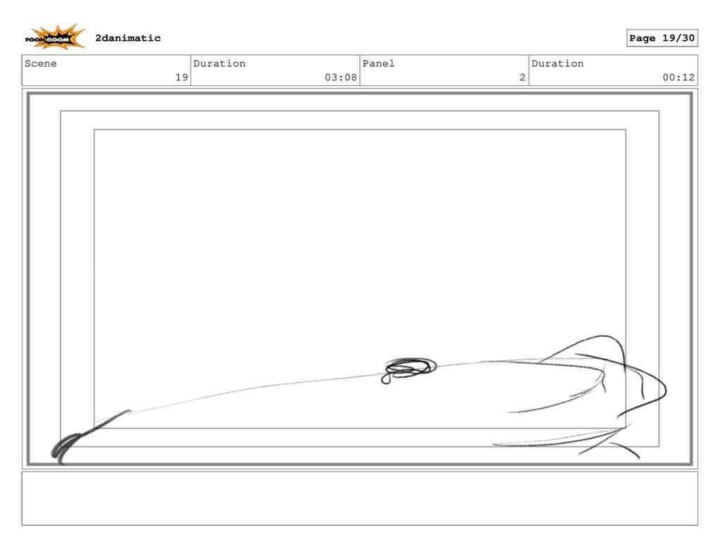 Scene 19 Duration 03:08 Panel 2 Duration 00:12 ...