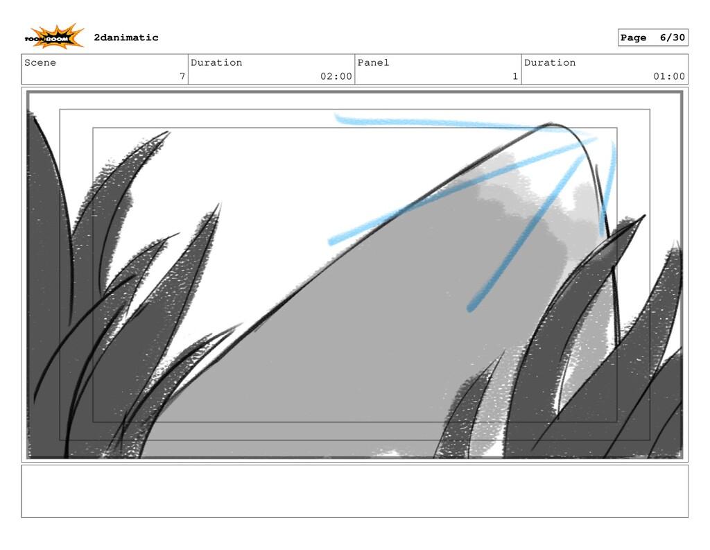 Scene 7 Duration 02:00 Panel 1 Duration 01:00 2...