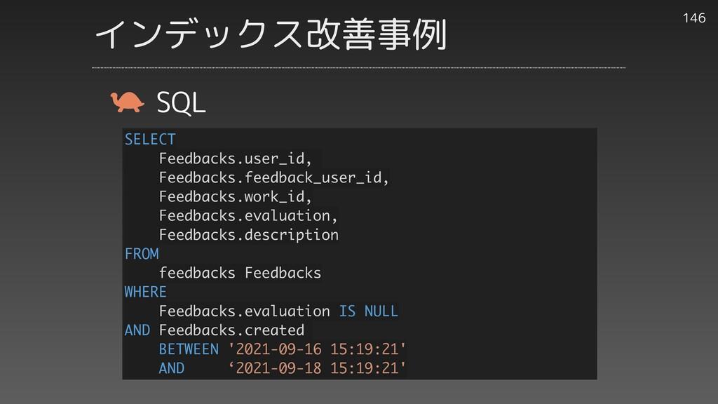 146 SQL SELECT Feedbacks.user_id, Feedbacks.fee...