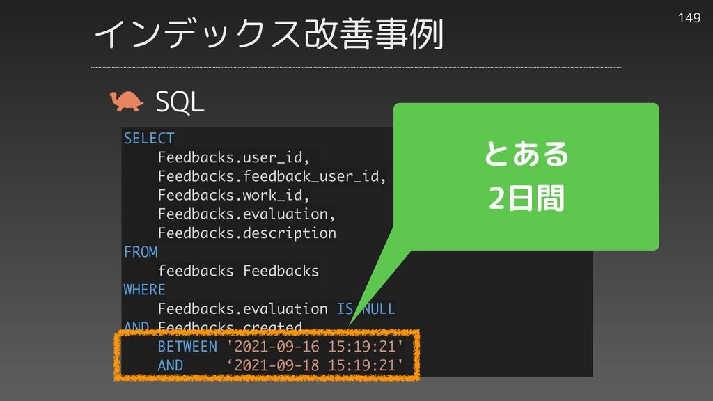 149 SQL SELECT Feedbacks.user_id, Feedbacks.fee...
