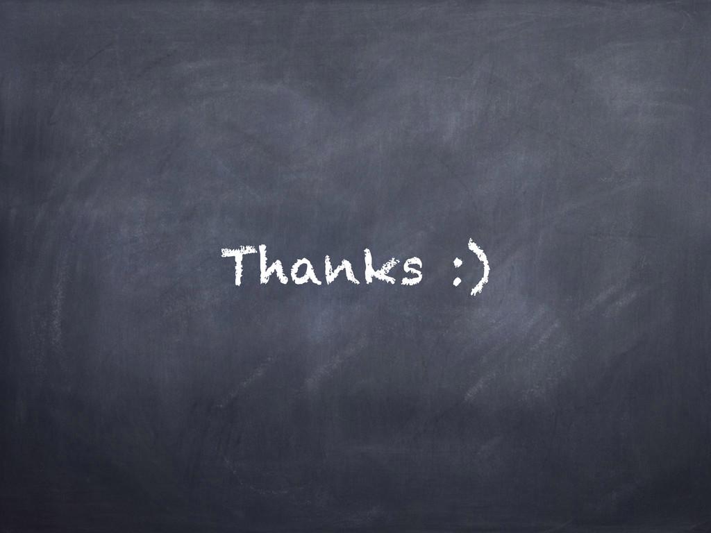 Thanks :)