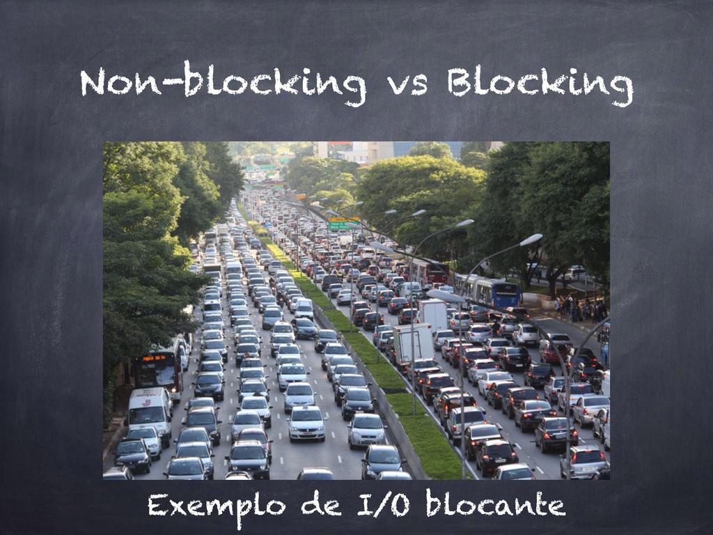 Non-blocking vs Blocking Exemplo de I/O blocante