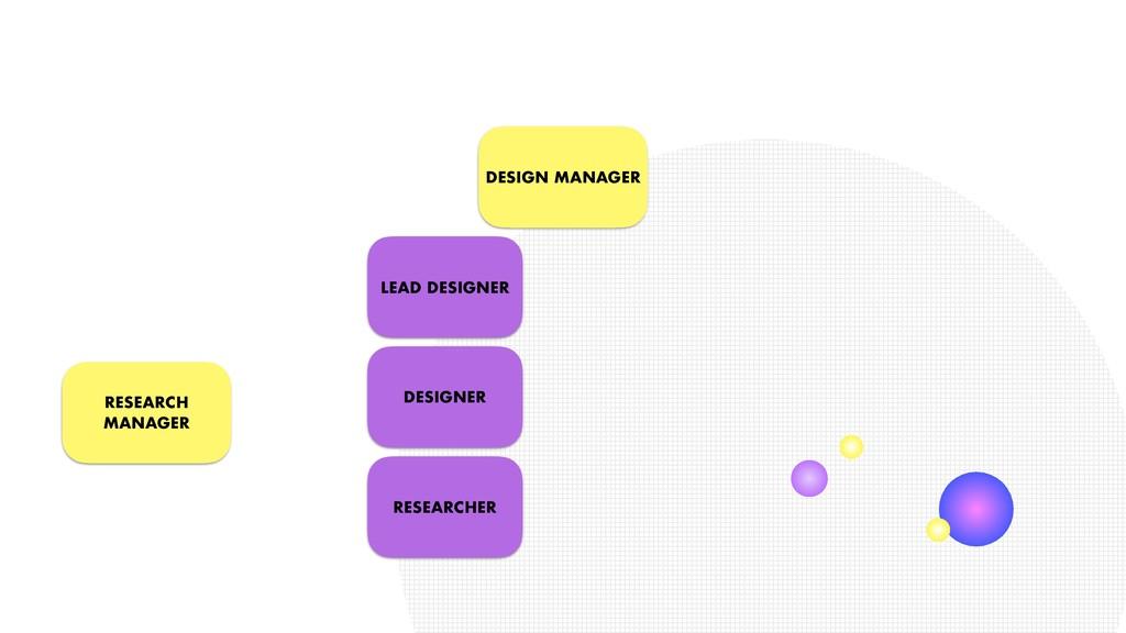 DESIGN MANAGER LEAD DESIGNER RESEARCH MANAGER D...
