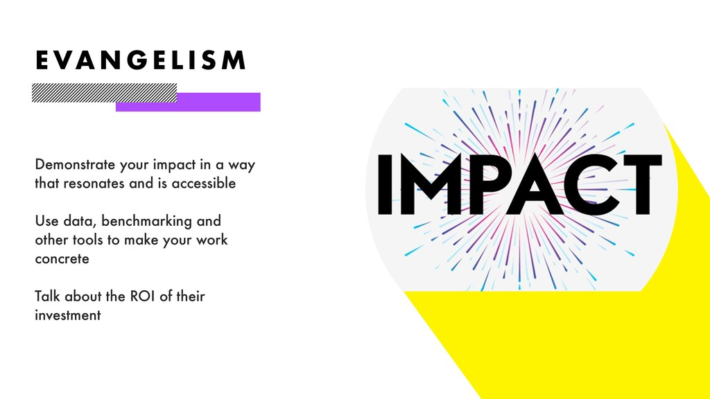 Demonstrate your impact in a way that resonates...