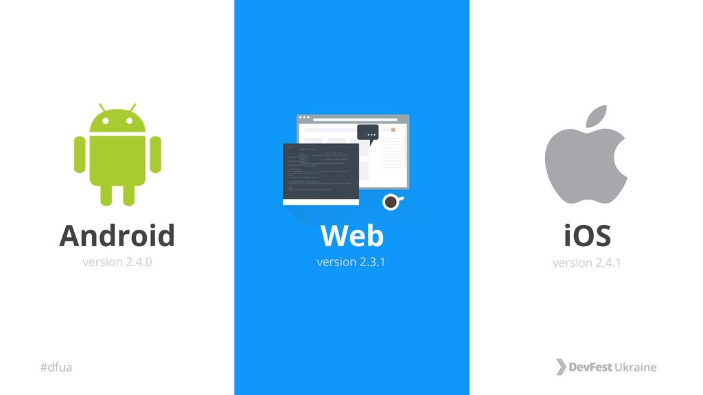 #dfua Web Android iOS version 2.4.0 version 2.4...