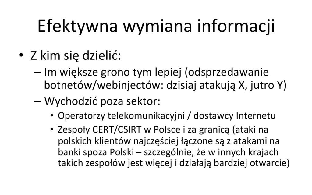 Efektywna wymiana informacji  • Z ...