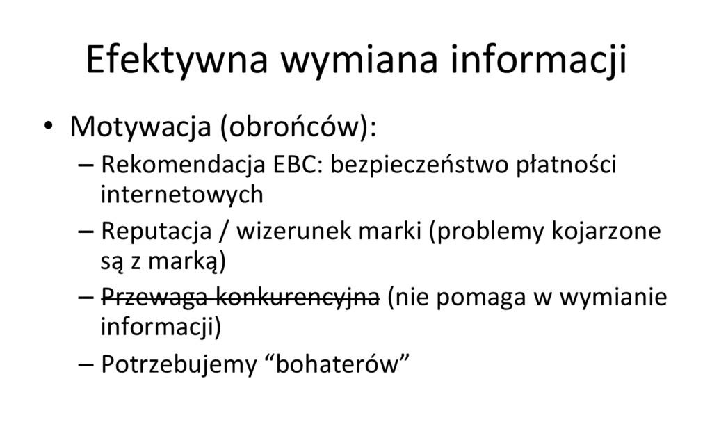 Efektywna wymiana informacji  • Motyw...