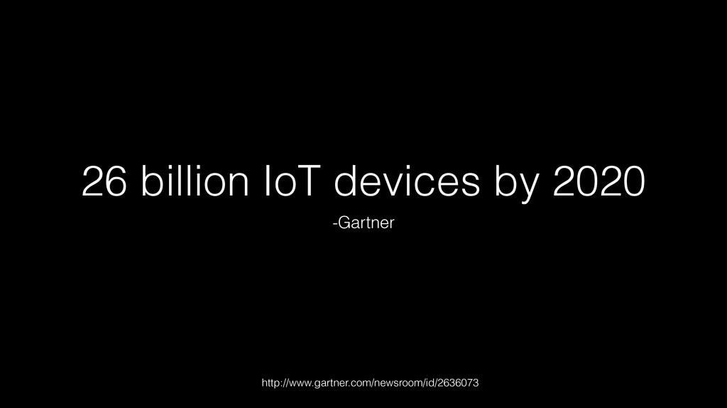 26 billion IoT devices by 2020 -Gartner http://...