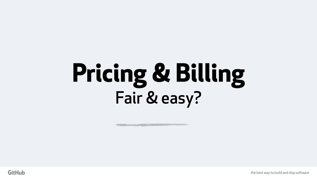the best way to build and ship software Pricing...