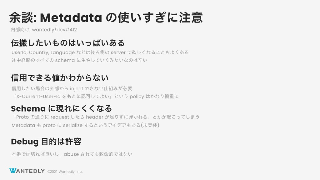 ©2021 Wantedly, Inc. ༨ஊ: Metadata ͷ͍͗͢ʹҙ ൖͨ͠...
