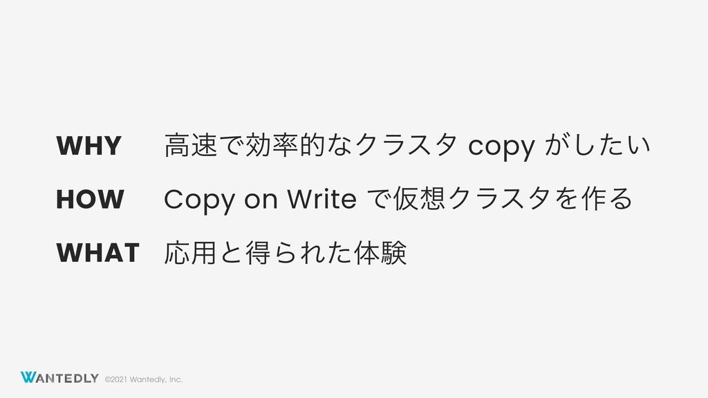 ©2021 Wantedly, Inc. ߴͰޮతͳΫϥελ copy ͕͍ͨ͠ Copy...