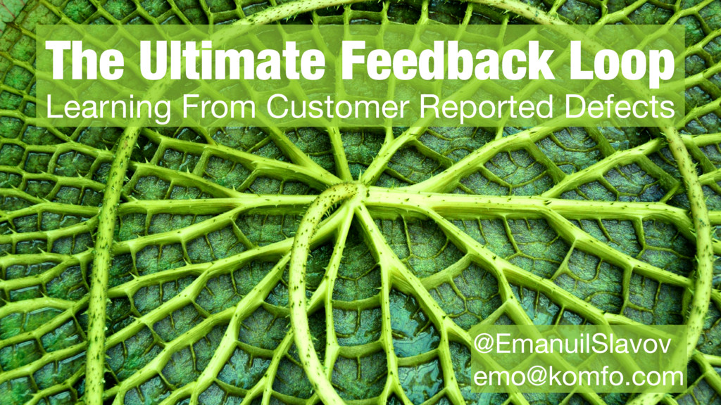 § The Ultimate Feedback Loop Learning From Cust...
