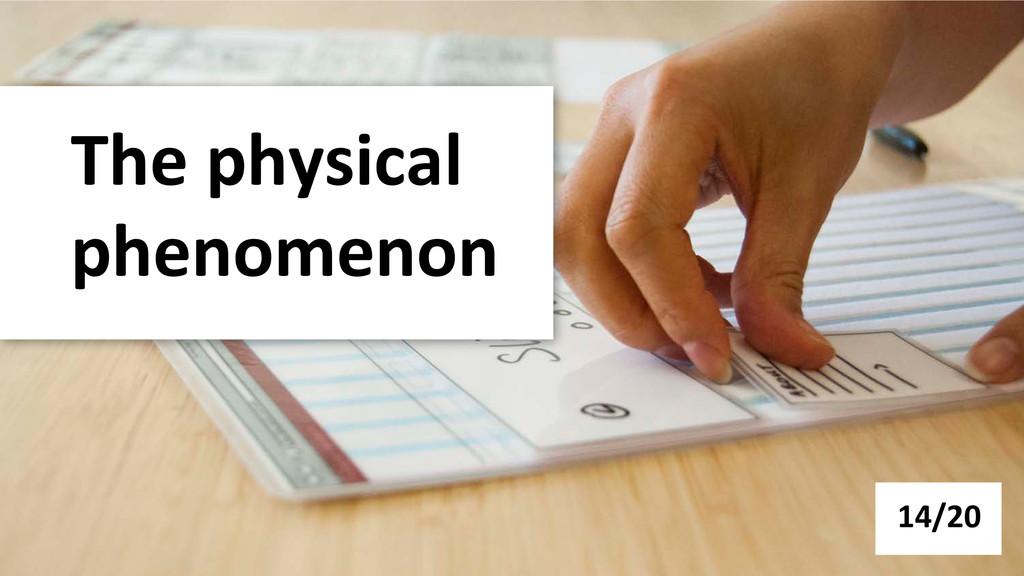 The physical  phenomenon  14/20