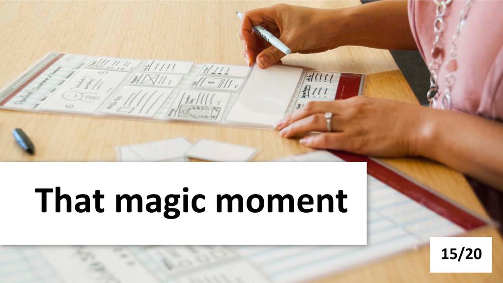 That magic moment  15/20