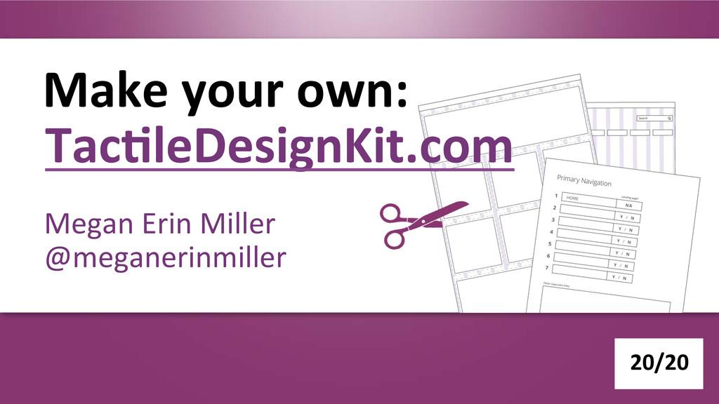 Make your own:  Megan Erin Mille...