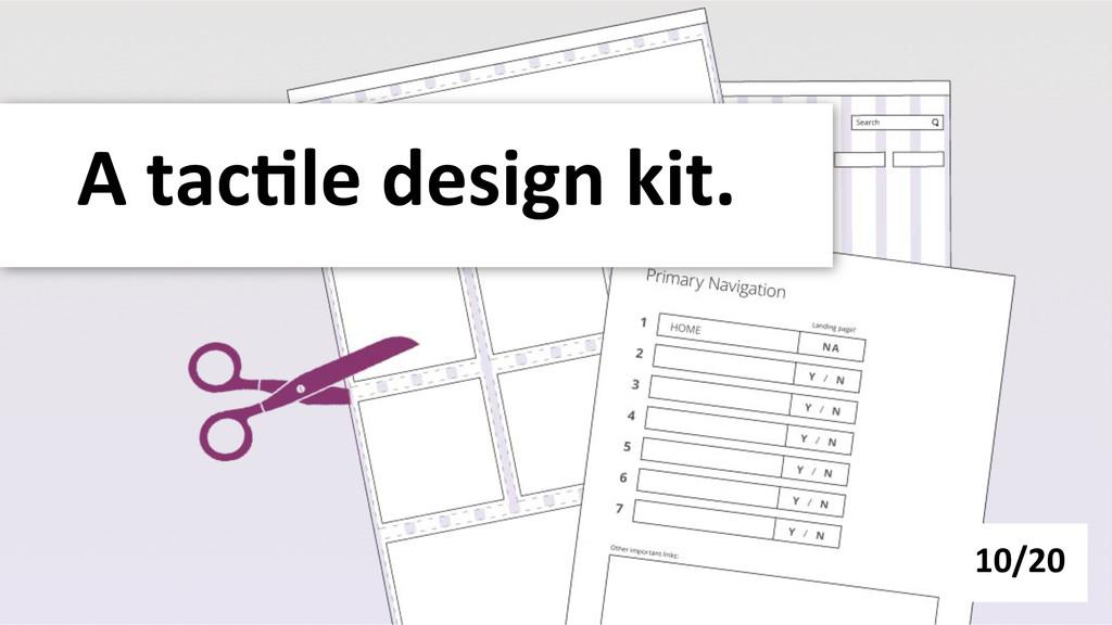 A tac-le design kit.  10/20