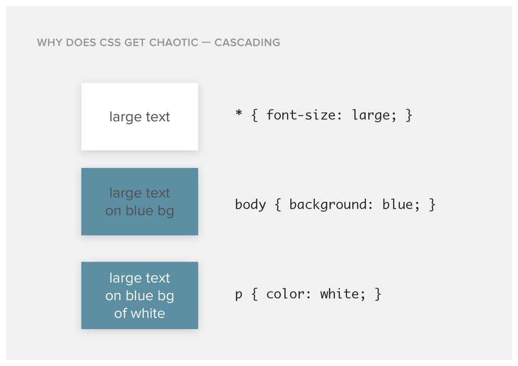 large text * { font-size: large; } large text o...
