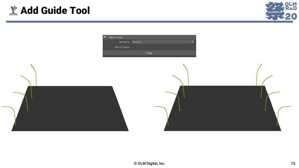 Add Guide Tool © OLM Digital, Inc. 12