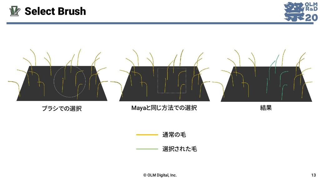 Select Brush © OLM Digital, Inc. 13 ブラシでの選択 May...
