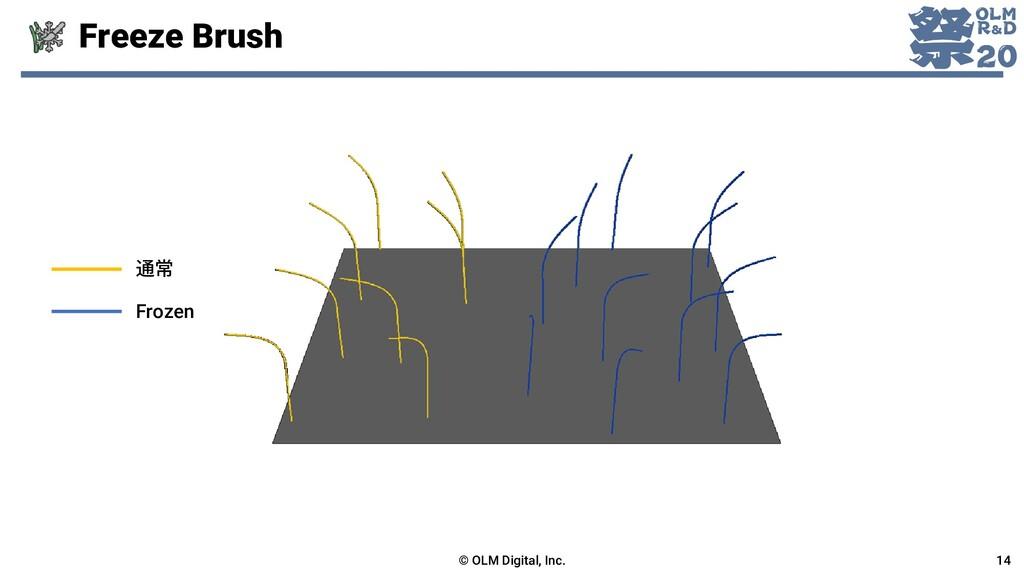 Freeze Brush © OLM Digital, Inc. 14 通常 Frozen