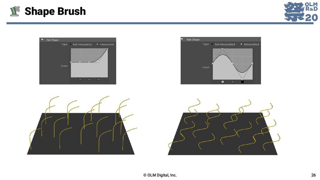 Shape Brush © OLM Digital, Inc. 26