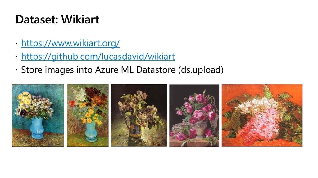 Dataset: Wikiart  https://www.wikiart.org/  h...