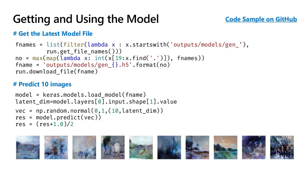 Getting and Using the Model fnames = list(filte...