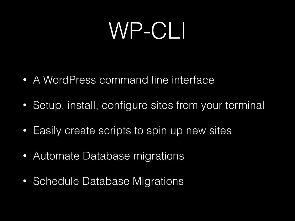 WP-CLI • A WordPress command line interface • S...