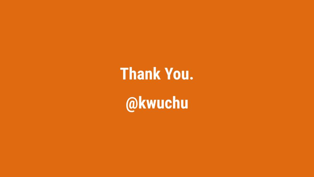 Thank You. @kwuchu