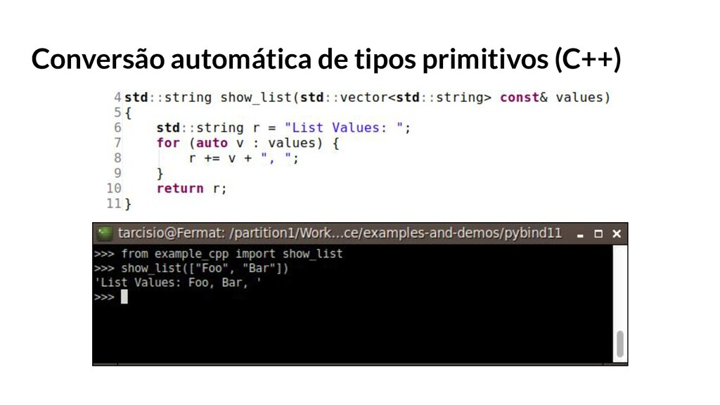 Conversão automática de tipos primitivos (C++)