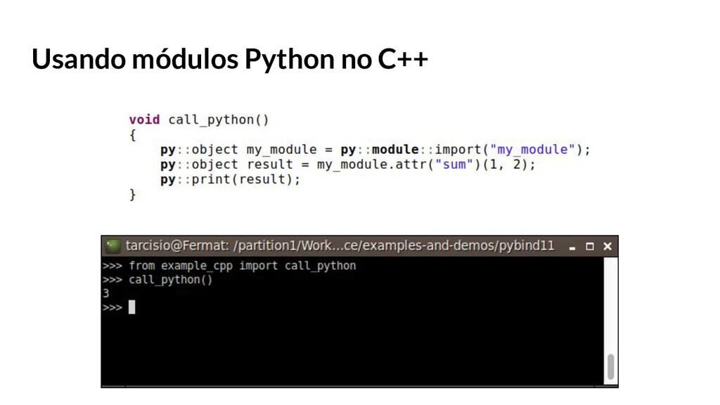 Usando módulos Python no C++
