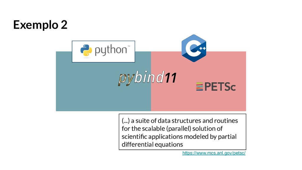 Exemplo 2 (...) a suite of data structures and ...