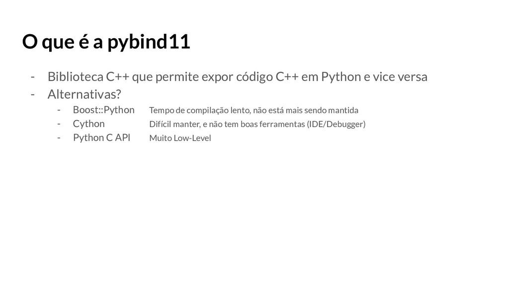 O que é a pybind11 - Biblioteca C++ que permite...