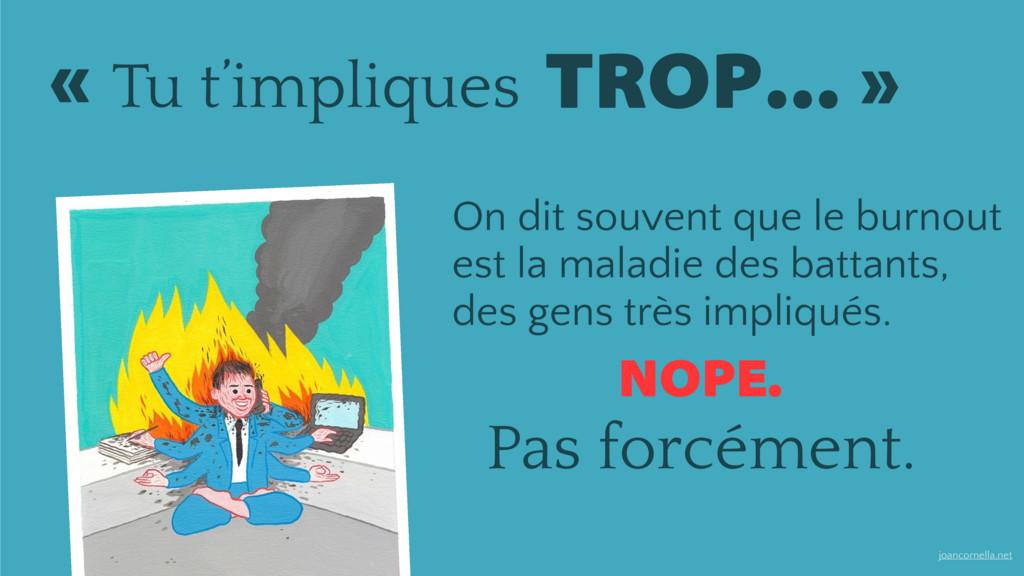 joancornella.net NOPE. Pas forcément. TROP… » ...