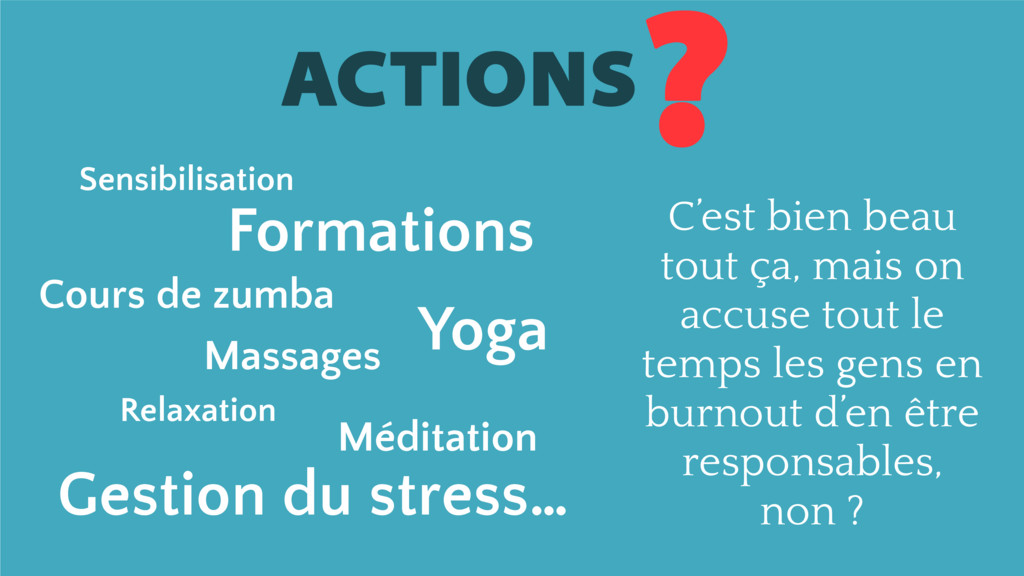 ACTIONS ? Formations Relaxation Cours de zumba ...