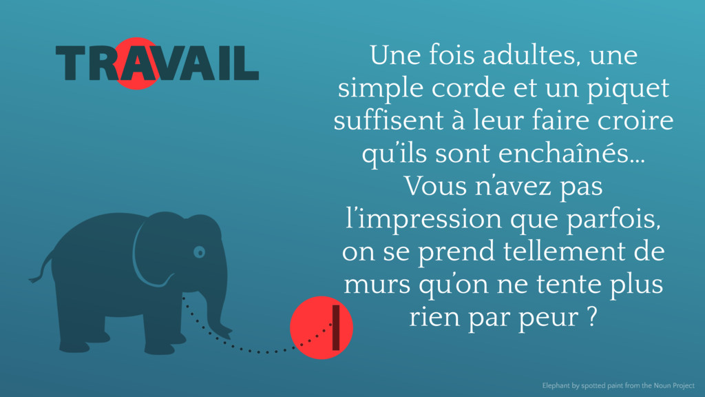 TRAVAIL Elephant by spotted paint from the Noun...