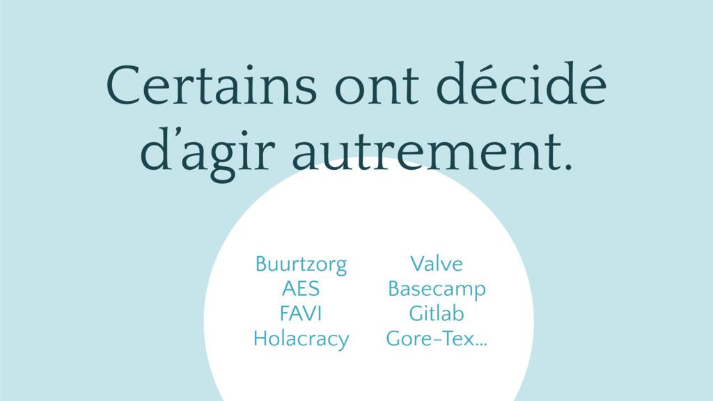 Buurtzorg AES FAVI Holacracy Valve Basecamp Git...
