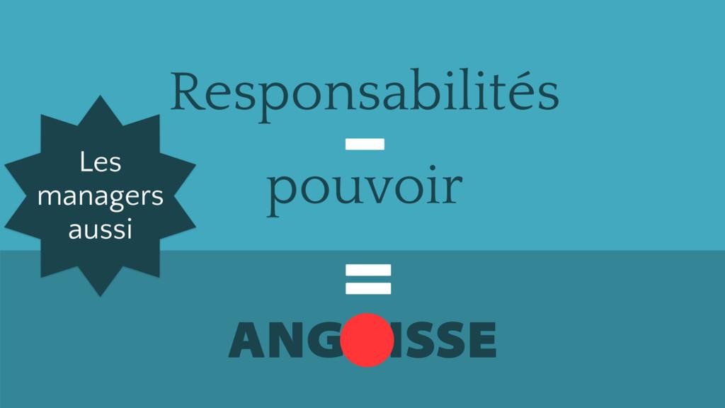 Responsabilités ANGOISSE = – pouvoir Les manage...