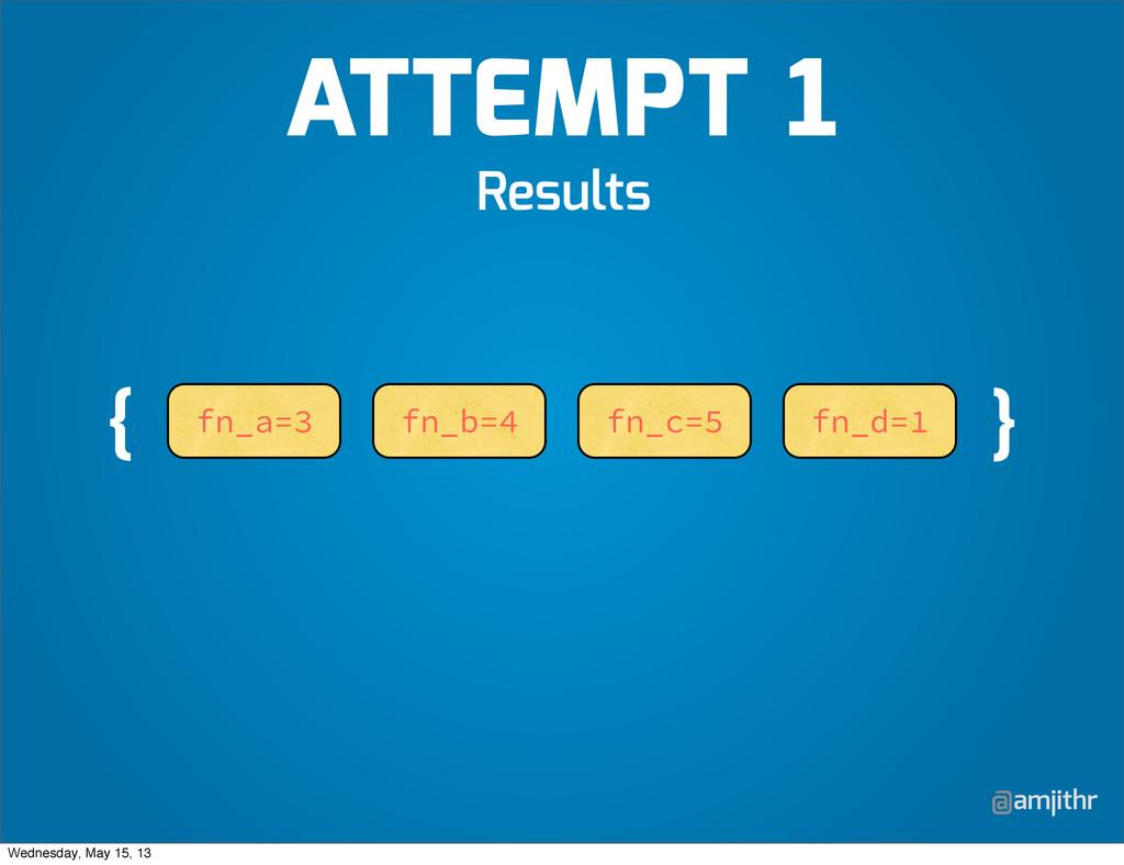 @amjithr Results fn_a=3 fn_b=4 fn_c=5 fn_d=1 { ...