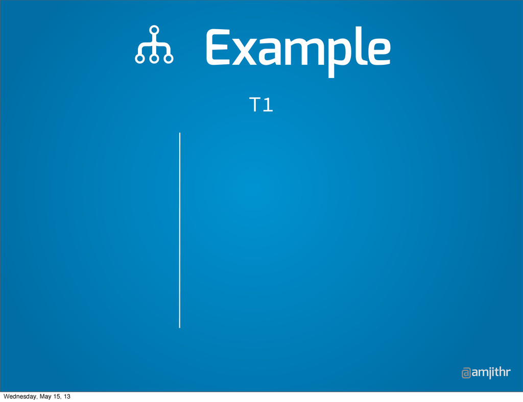 @amjithr  Example T1 Wednesday, May 15, 13
