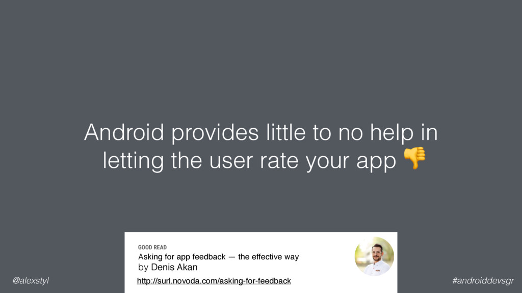 Android provides little to no help in letting ...