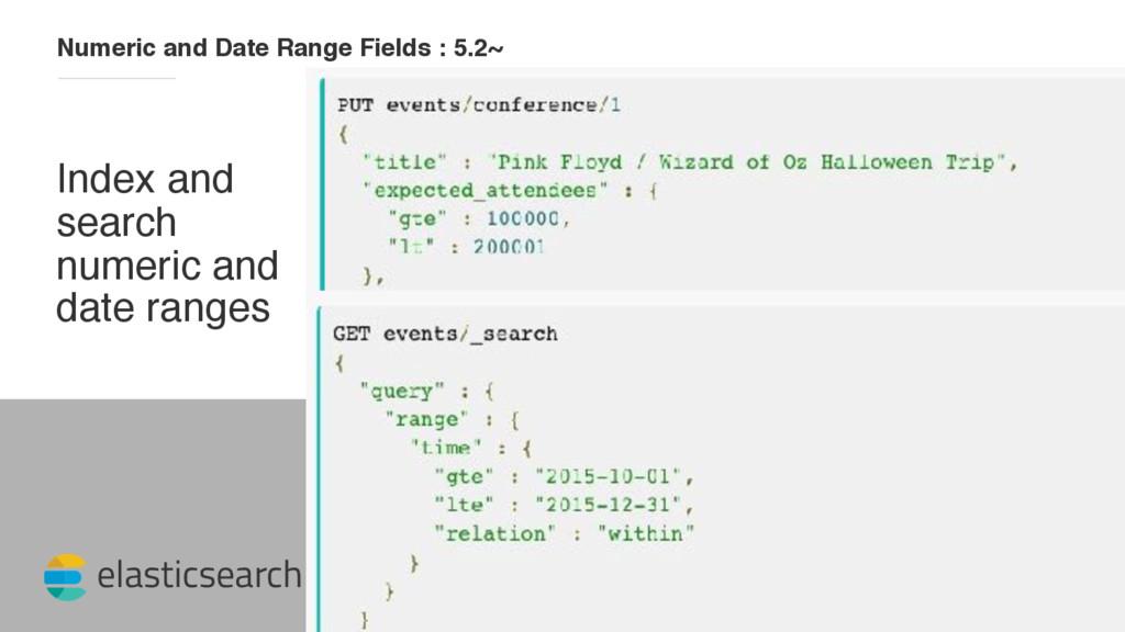 elasticsearch Numeric and Date Range Fields : 5...