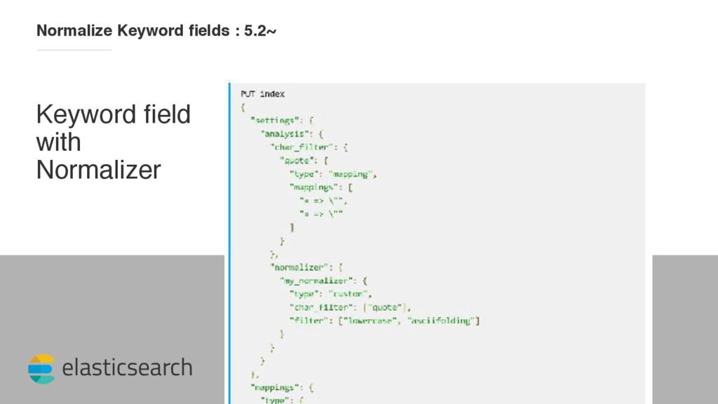 elasticsearch Normalize Keyword fields : 5.2~ Ke...