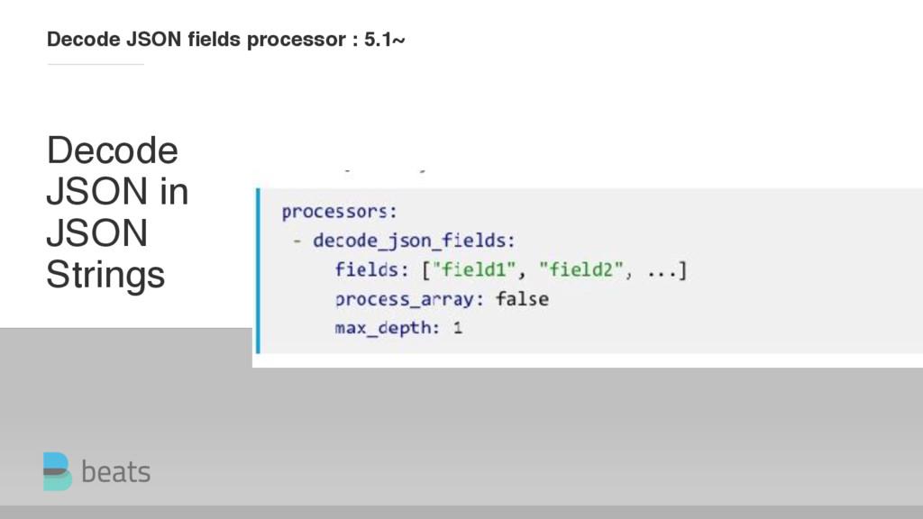 Decode JSON in JSON Strings Decode JSON fields p...