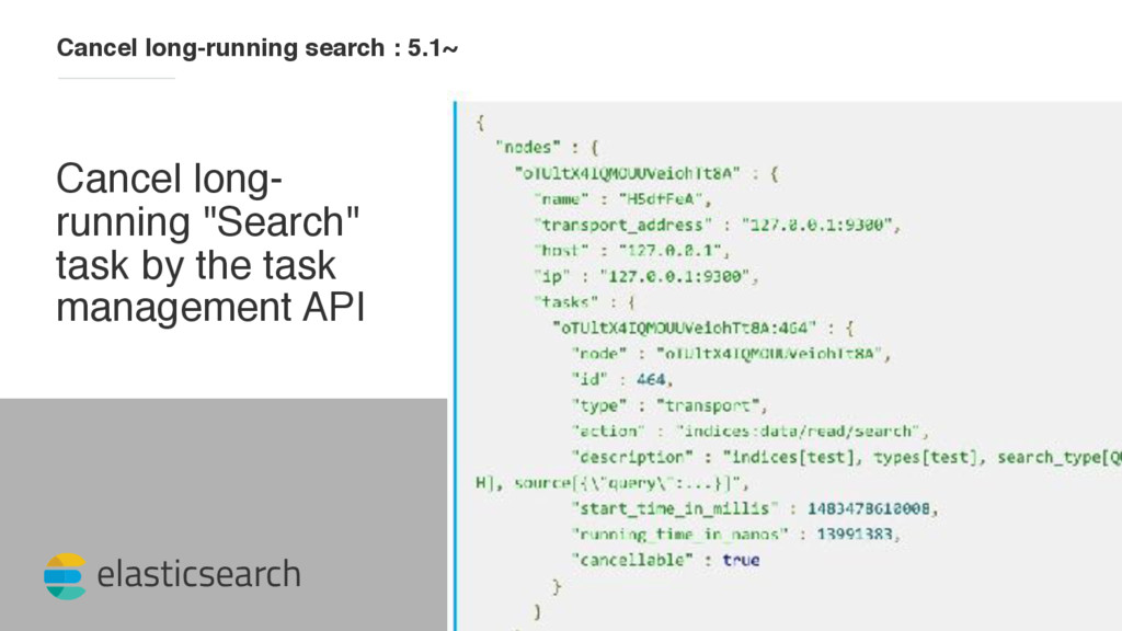 elasticsearch Cancel long-running search : 5.1~...