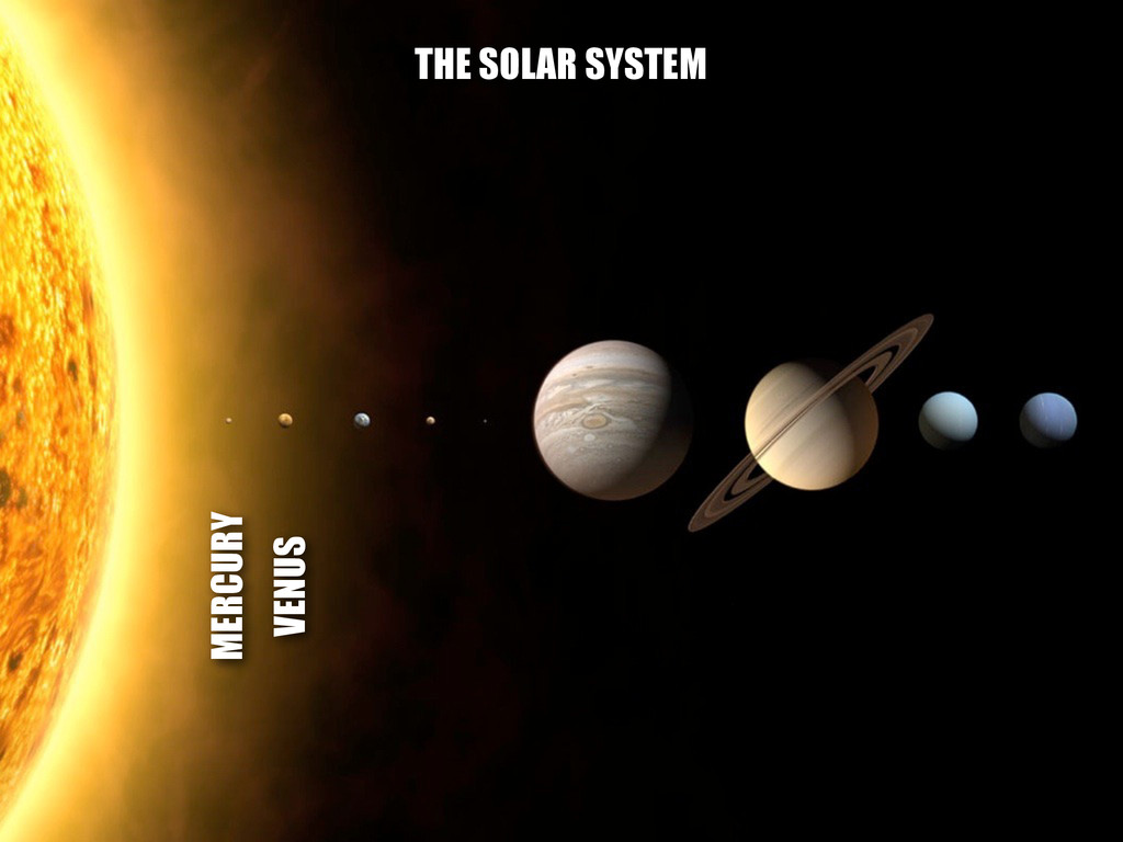MERCURY VENUS THE SOLAR SYSTEM